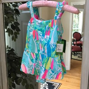 Lilly Pulitzer Girls 8 Swimsuit ( Mandy)